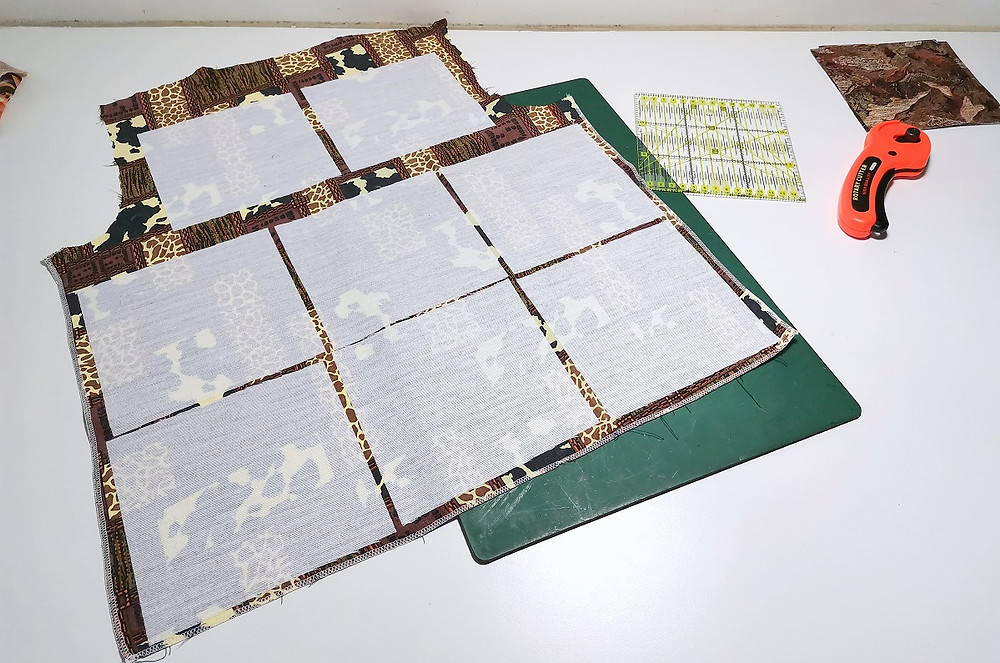 interfacing on deconstructed garment fabrics