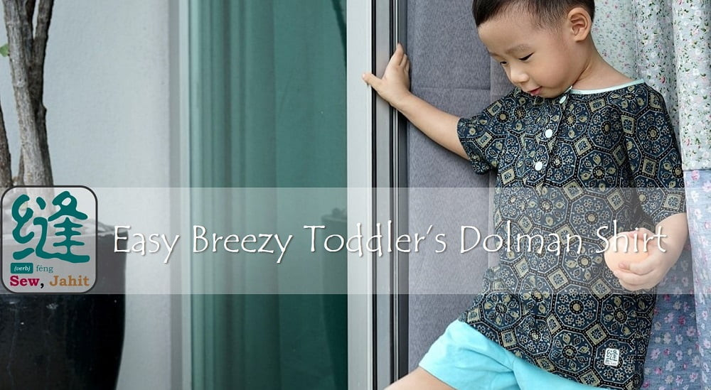 Easy breezy toddler's dolman shirt