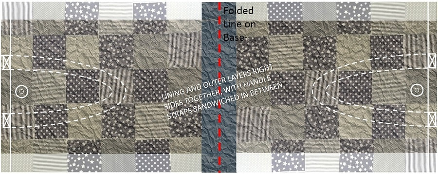 How to make patchwork tote bage - Step 10