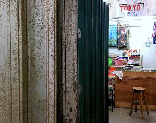 Interior views of the cluster of sewing shops at Kee Ann Road, Malacca.