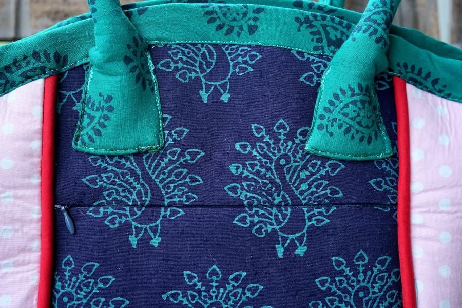 Invisible zipper on a bag exterior
