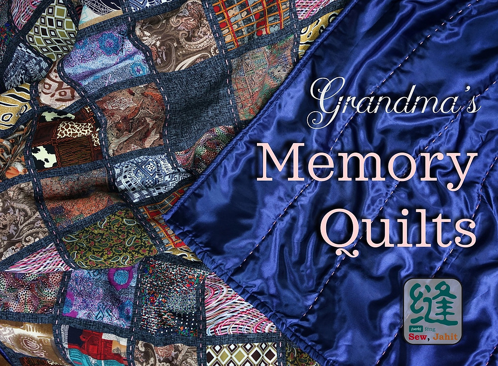 Grandma's memory quilts cover photo