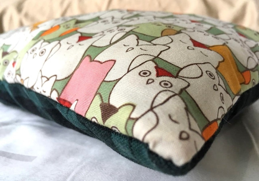 Close up of baby pillow.
