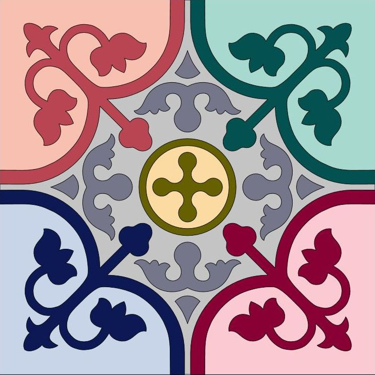 Colourful Peranakan Tile