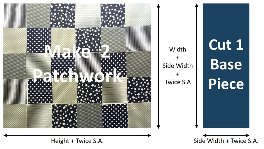 How to make patchwork tote bag - Step 1