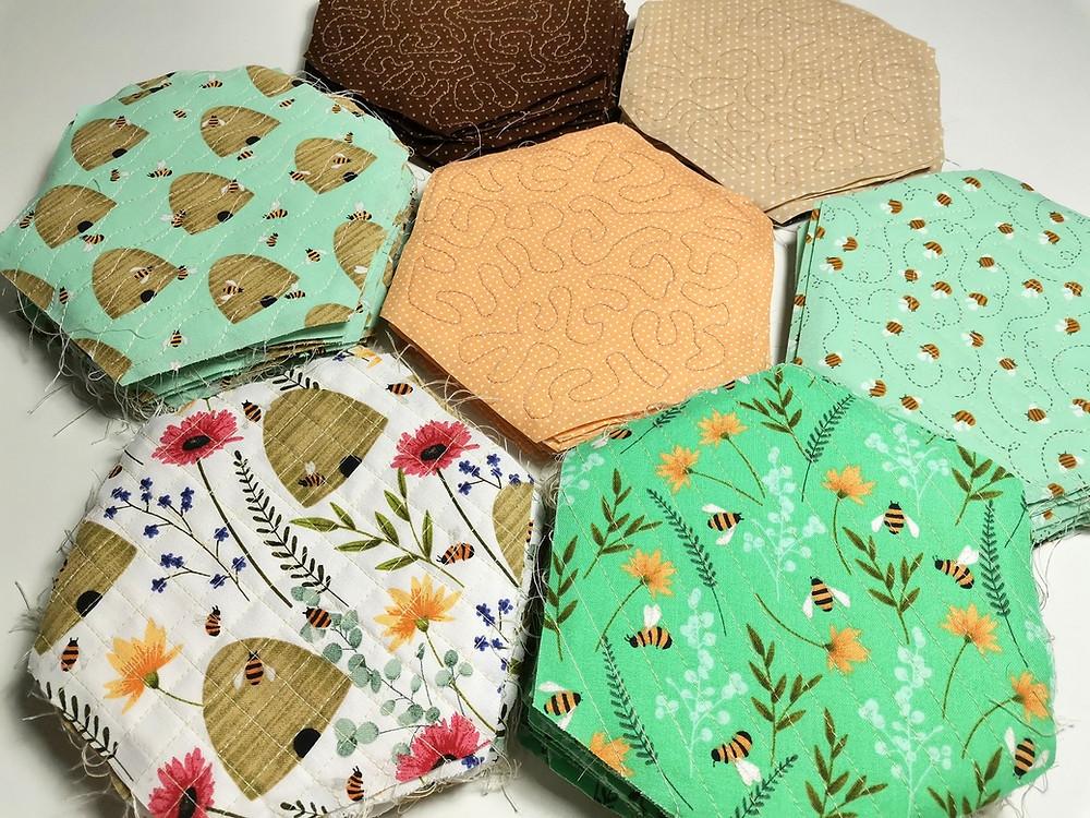 various quilting pattern hexagon QAYG