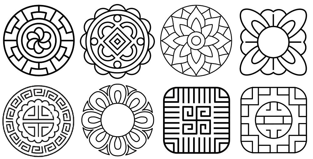 Mooncake Embroidery Design