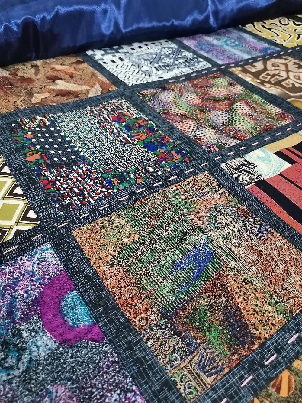 hand quilting memory square patchwork quilt multipurpose thread