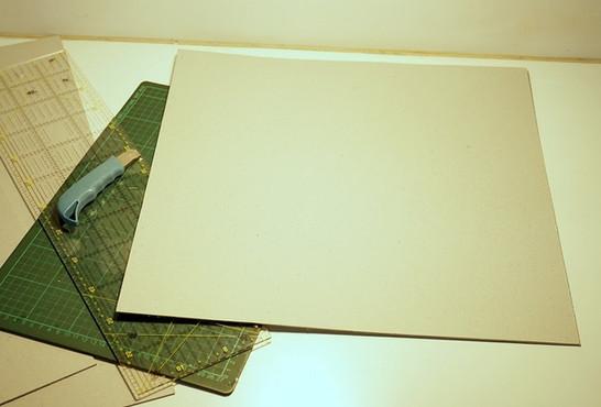 Cardboard cut into desired dimensions (in my case, 48cm x 47cm).