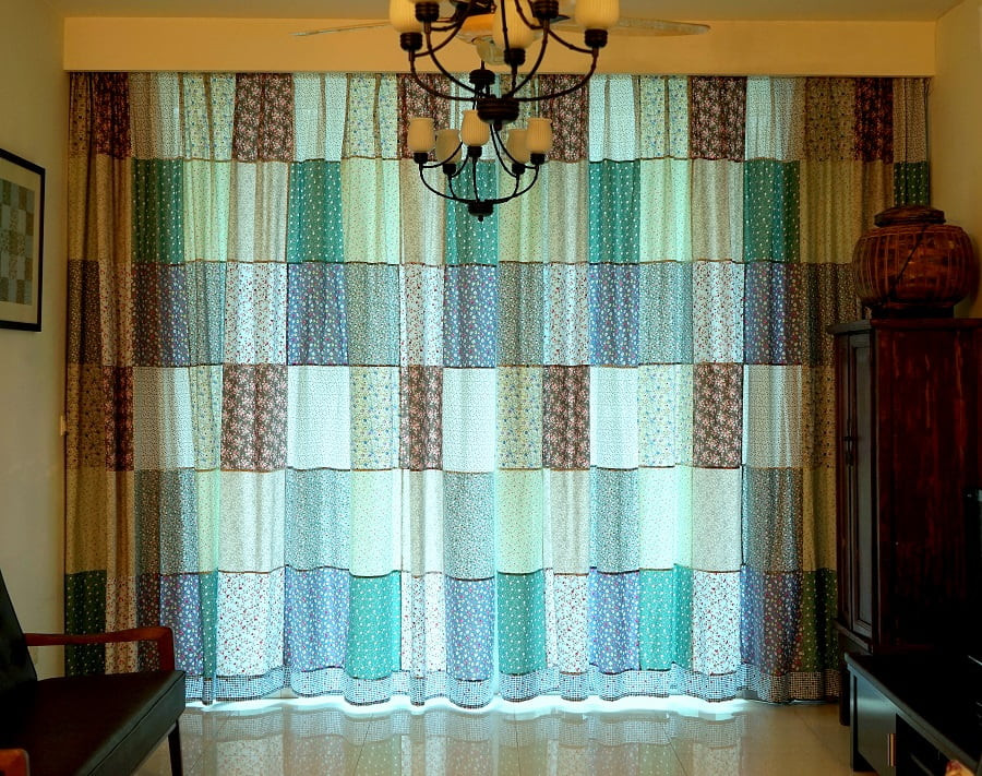 Patchwork Curtains Completed!