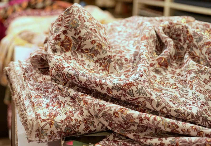Floral cotton satin from India