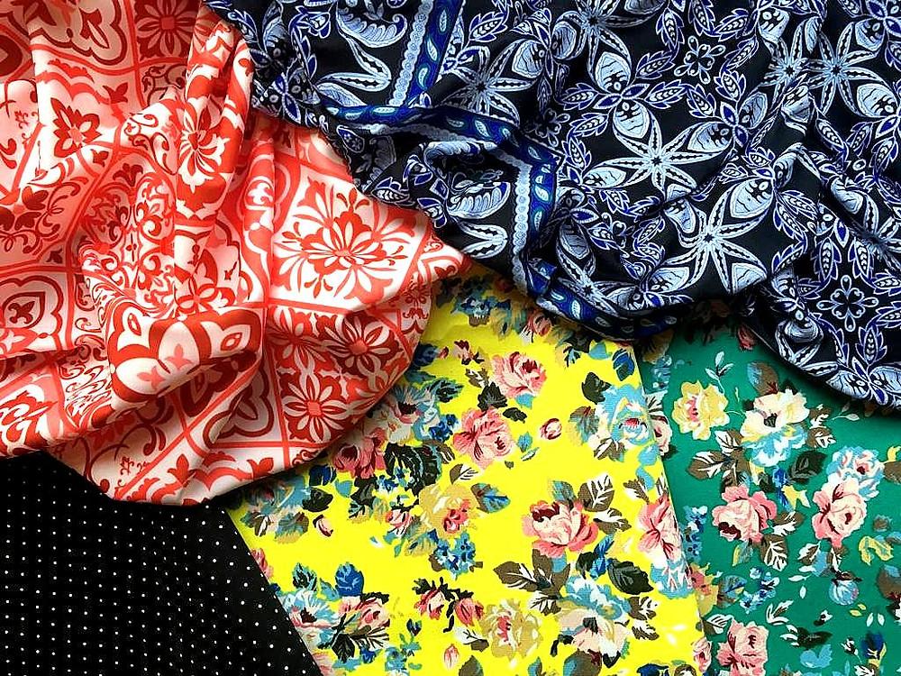 colourful fabrics from Saigon