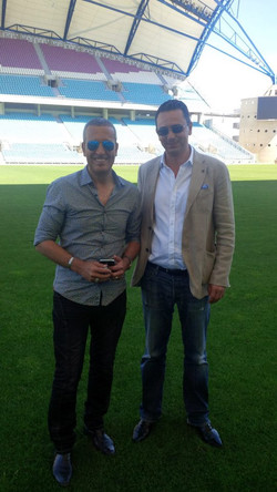 Aziz Bouderbala et Guillaume Ribeiro, en Algarve