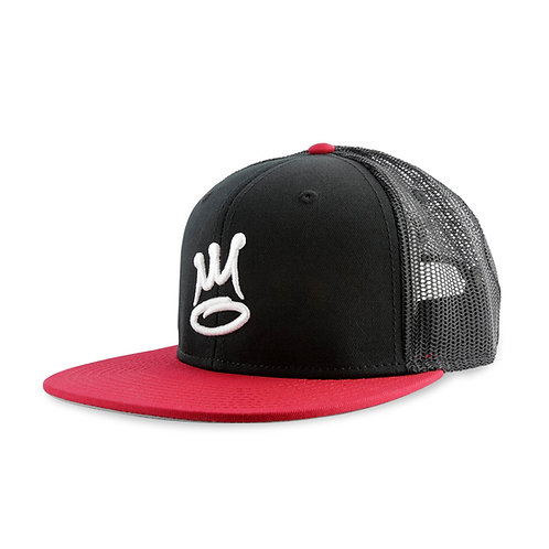 The Almighty Basic Snap Mesh Black/Red