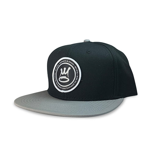 The Badge Snapback Black Lt. Grey