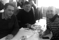 Guillaume Ribeiro, Lucídio Ribeiro et Leonel Pontes, à Lisbonne