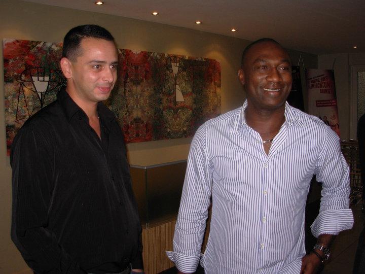 Guillaume Ribeiro et Jacques Songo'o, à Marrakech