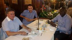 Lucídio Ribeiro, Guillaume Ribeiro et Amadu Nogueira, à Lisbonne