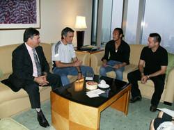 Lucídio Ribeiro, José Mourinho, Hidetoshi Nakata et Alexandre Ribeiro
