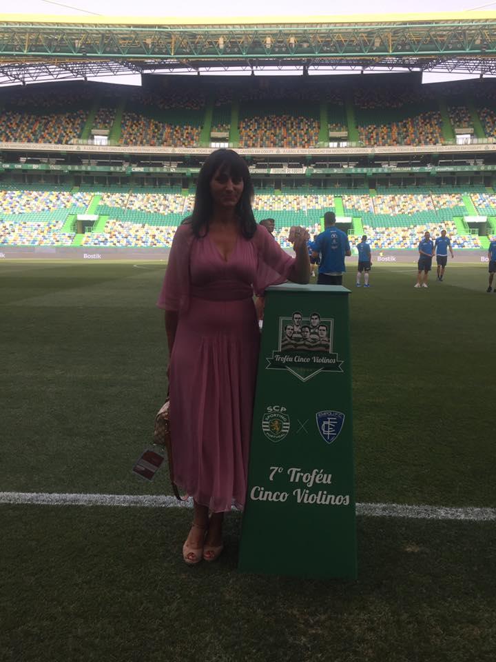 Géraldine Ribeiro, au Stade Alvalade à Lisbonne