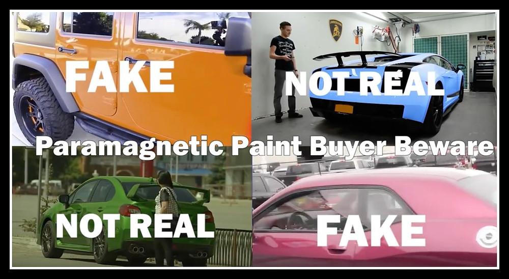 fake paramagnetic paint