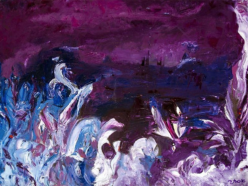 Nature Painting - A Stormy Night