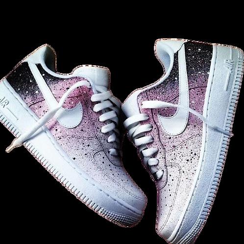 Nike Air Force 1 Custom Stars Pink/Black