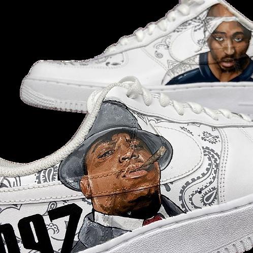 Nike Air Force 1 Custom Biggy x Tupac