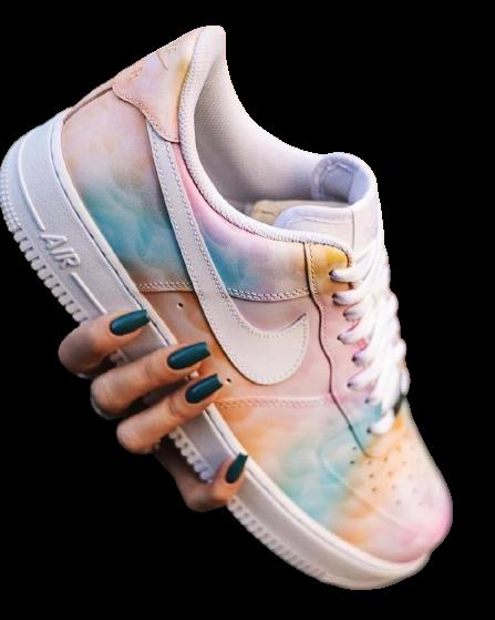 Nike Air Force 1 Custom Rainbow Clouds