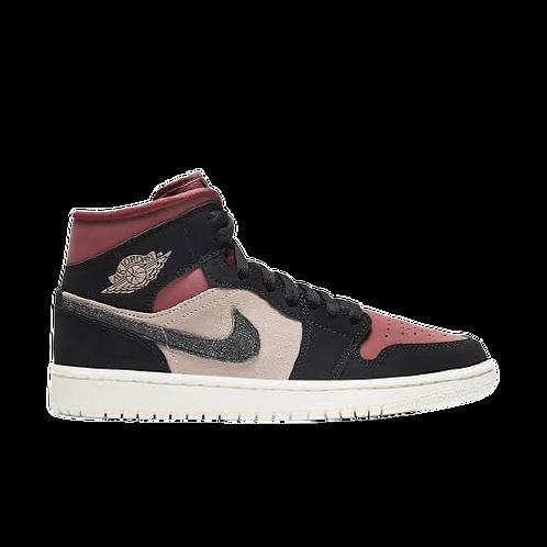 Nike Air Jordan 1 Mid Burgundy/Dusty Pink