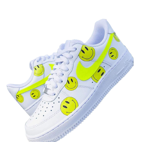 Nike Air Force 1 Custom Smiley Faces Yellow