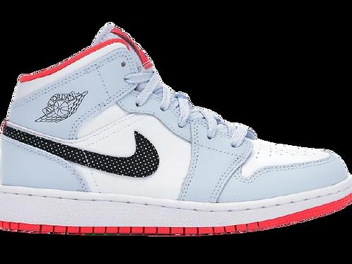 Nike Air Jordan 1 Half Blue Polka Dot Swoosh