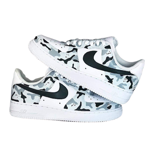 Nike Air Force 1 Custom Camo Grey/Black