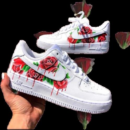 Nike Air Force 1 Custom Drip Rose Red