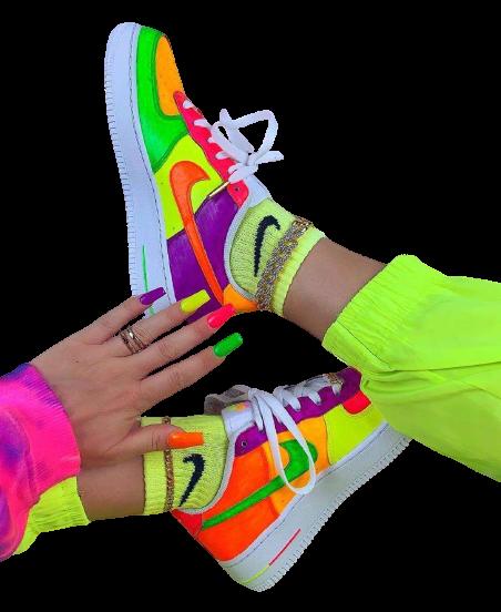 Nike Air Force 1 Custom Neon Party