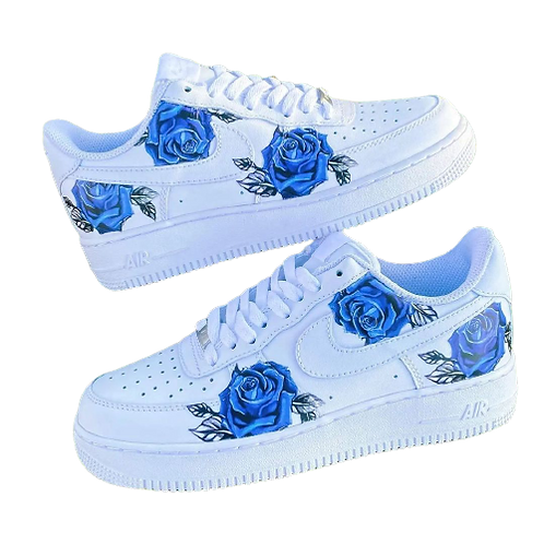 Nike Air Force 1 Custom Blue Roses