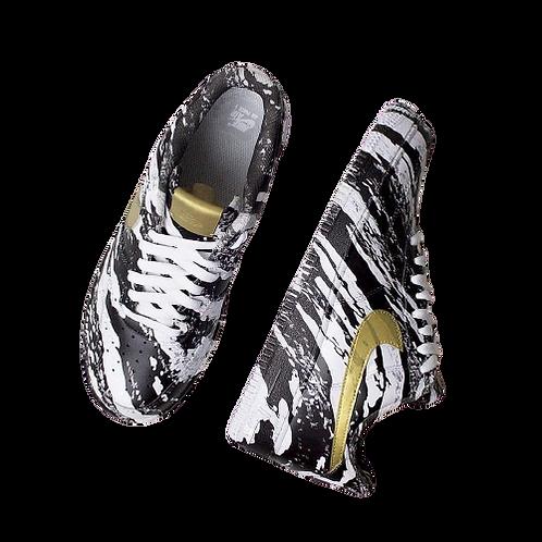 Nike Air Force 1 Custom Paint Splash Black/Gold