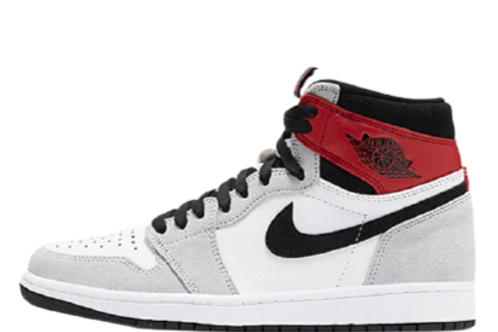 Nike Air Jordan 1 Light Smoke Grey/Red