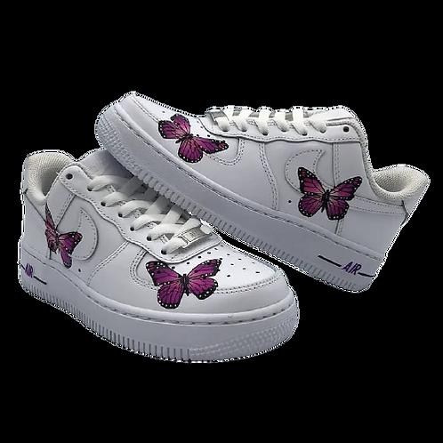 Nike Air Force 1 Custom Butterflies Purple