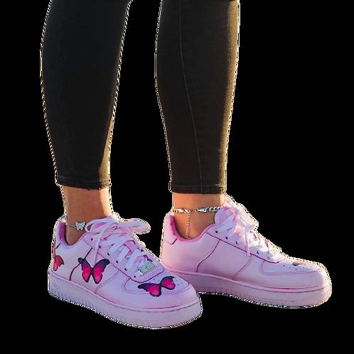 Nike Air Force 1 Custom Butterflies Red/Pink