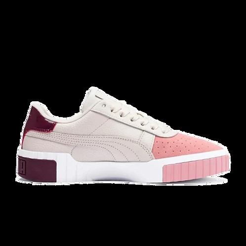 Puma Cali White/Pink/Maroon