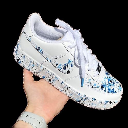 Nike Air Force 1 Custom Paint Splash Blue/Black
