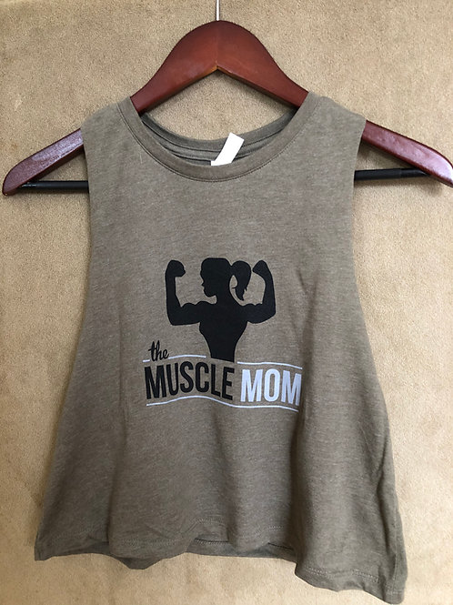 The Muscle Mom Racerback Crop Tank