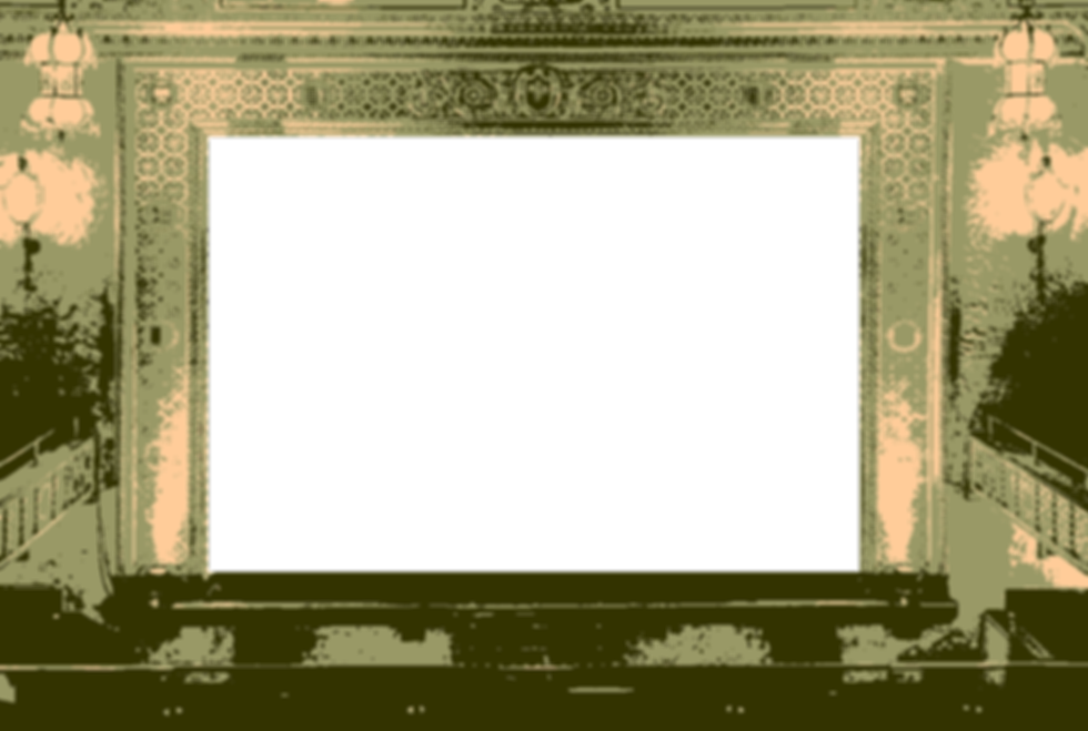 An old-fashioned golden theater
