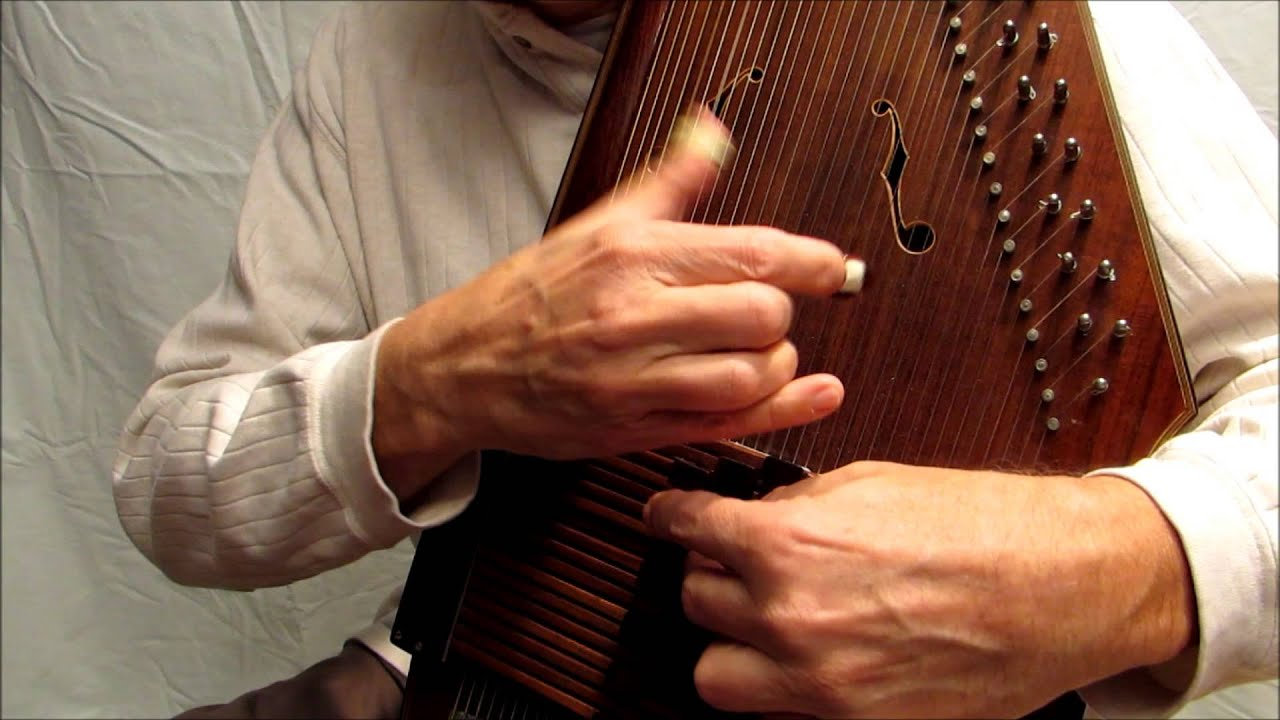 An Autoharp being played