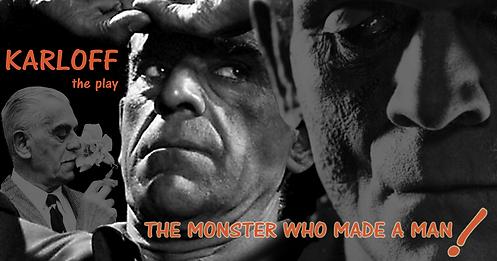 3 headshots of Boris Karloff
