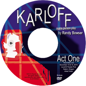 DVD art for video of KARLOFF the play