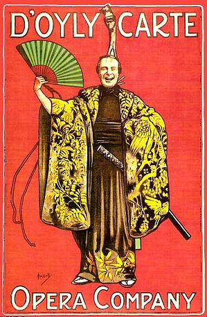 poster for the first production of The Mikado