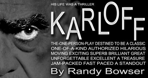 a promo meme for KARLOFF the play