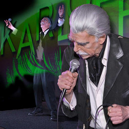Randy Bowser in the curtain call for KARLOFF the play's premiere
